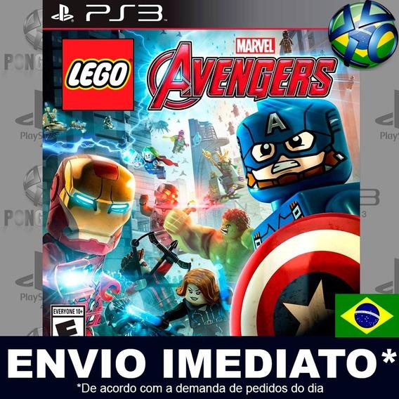 Lego Marvel Vingadores Ps3 Psn Dublado Português Br Promoção