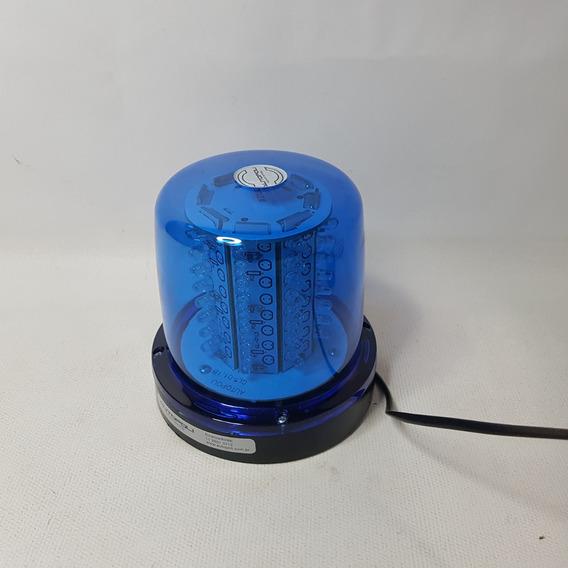 Giroflex 64 Leds Giroled 12v Imã Azul Luz Sinalizador Ap-687