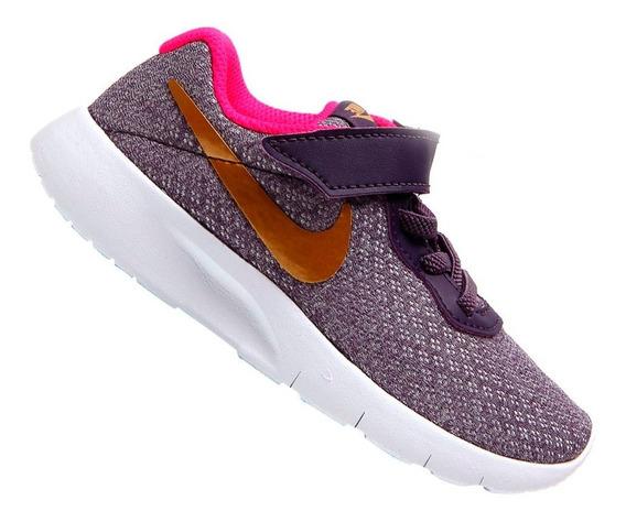 Tênis Nike Infantil Tanjun Roxo Menina 844872502 Original