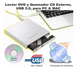Zdvd10 Lector Dvd Y Quemador Cd Externo Usb 2.0 Computoys