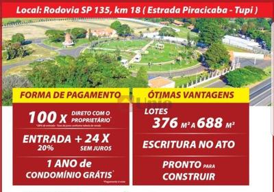 Residencial Moinho Vermelho - Condomínio Fechado Em Piracicaba - Te0248