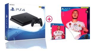 Consola Ps4 Slim 1tb + Fifa 20 Nueva, Sellada, Con Garantía