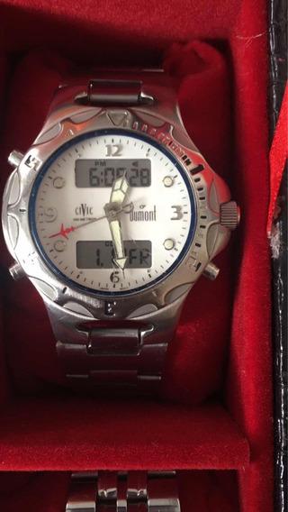 Relógio Dumont Civic Aviador E Nike
