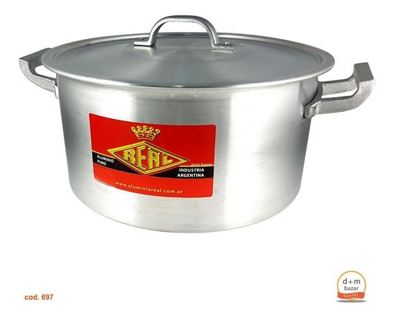 Cacerola De Aluminio N° 34 Gastronomica Capacidad 15 Litros