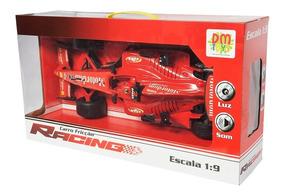 Carro Formula 1 De Fricção Racing Escala 1:9 Com Luz E Som