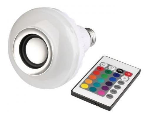 Caixa De Som Bluetooth E Lâmpada Multi Led Wj-l2 C/ Controle