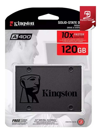 Disco Duro Estado Solido (34vrds) 120gb Kingston A400