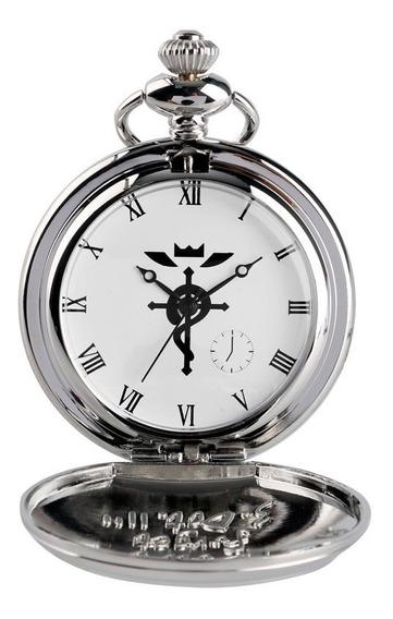 Relógio De Bolso Fullmetal Alchemist Edward Elric Prata