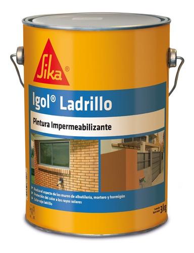 Imagen 1 de 5 de Igol Ladrillo Pintura Impermeabilizante 3 Kg