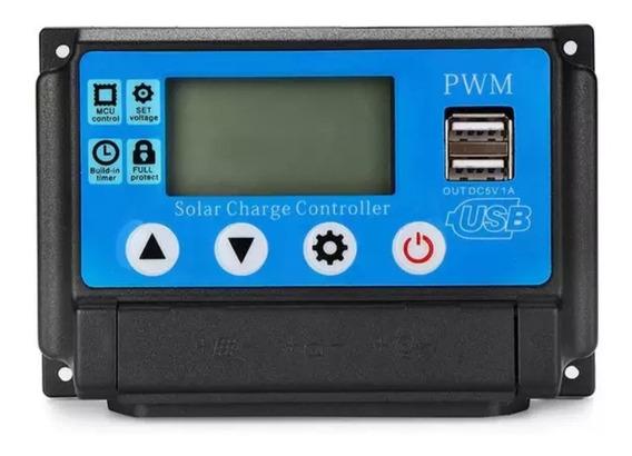 Controlador Carga Solar 60a 12v 24 V Pwm Automático