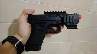 Trilho Grip Red Dot Glock Gbb Aep Airsoft Suporte Mount Mira