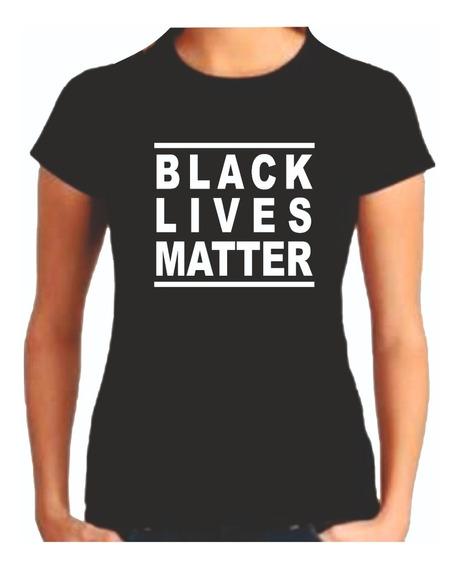 Camiseta Baby Look Black Lives Matter Vidas Negra Importam