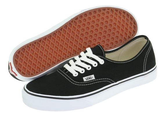 Tenis Vans Authentic Clasico Negro Hombre Y Mujer