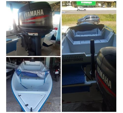 Imagem 1 de 6 de Bote/barco Corisco Yamaha 25 Hp