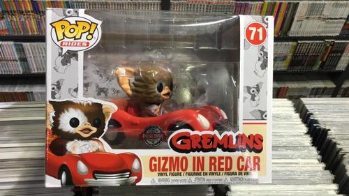 Funko Pop Rides Gremlins Gizmo In Red Car - Original