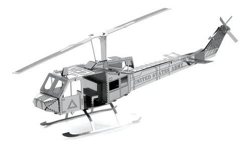 Helicóptero Uh1 Rompecabezas Metálico 3d En Stock! Envío Ya!