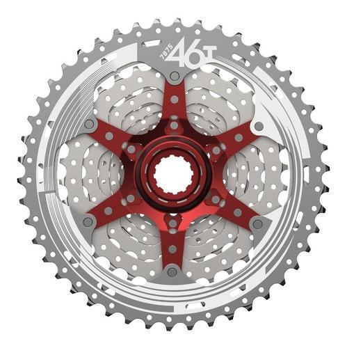 Cassette Sun Race 10 Pasos 11-46 Csmx3 Ligero Gris Rojo
