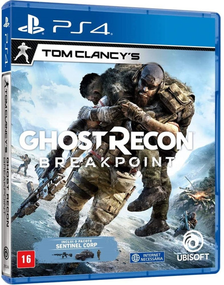 Jogo Tom Clancys Ghost Recon Breakpoint Ps4 Midia Fisica Br