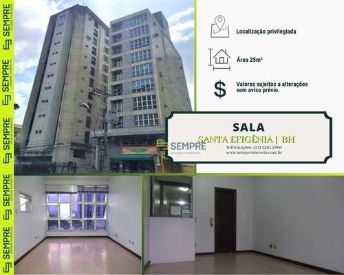 Imagem 1 de 17 de Sala À Venda, 25 M² E 01 Vaga - Santa Efigênia - Belo Horizonte/mg - Sa0083