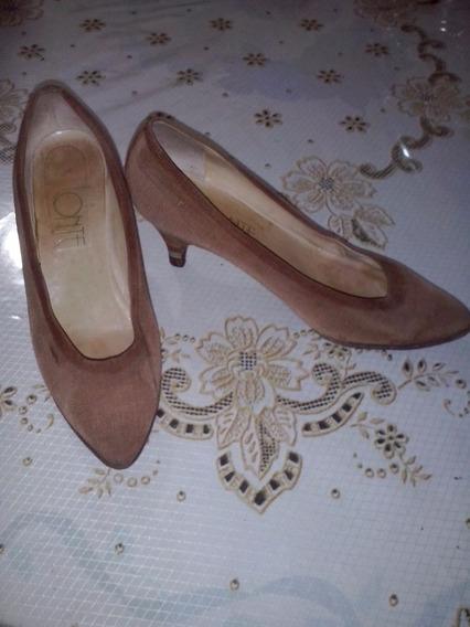 Zapato De Tela Lonté