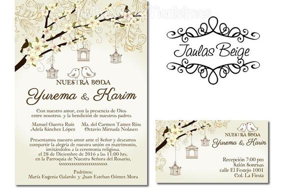 Invitaciones Boda Imprimibles Recuerdos Cotillón Y