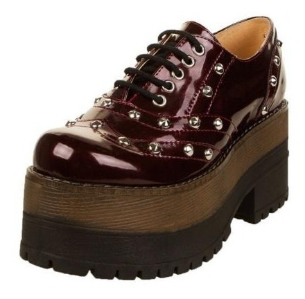Zapatos Bordó Luana Chiara Con Plataforma