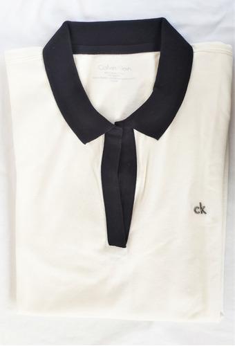 Remera Chomba Calvin Klein Blanca M Original Importada