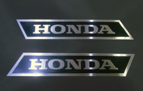 Par Emblema Honda Inox Acessório Moto Carro Cg Bros Cb (2un)