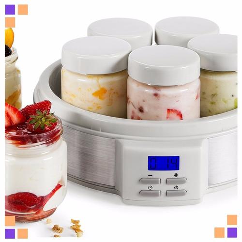 Fabrica De Yogurt Yogurtera Atma Ym3010e Con 7 Jarros Vidrio