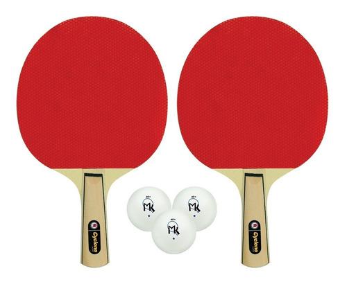 2 Raquetas Cyclone Mk Pack De Ping Pong - Tenis De Mesa