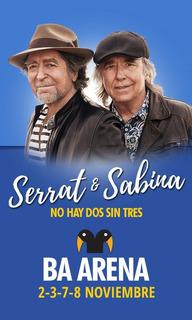 1 Entrada Para Sabina Y Serrat, No Hay Dos Sin Tres