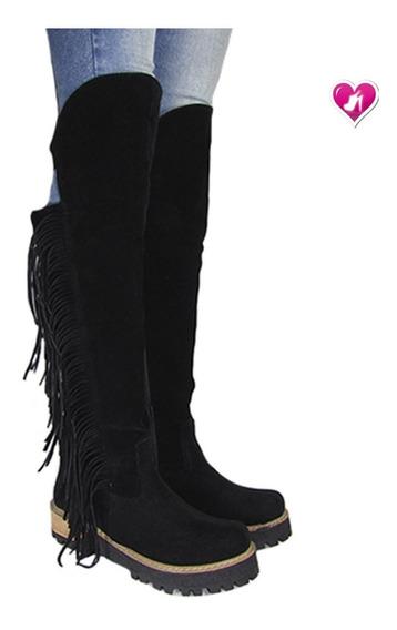 Botas Bucanera De Cuero Modelo Agatha De Shoes Bayres