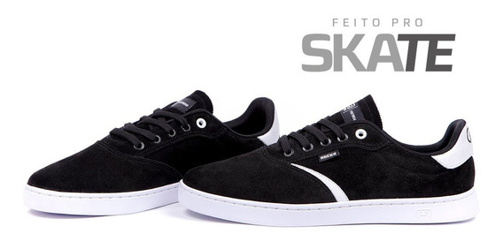 Tênis Hocks Trip Skate Black/ White (preto/ Branco)