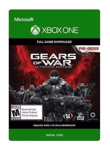Gears Of War Xbox One Codigo 25 Digitos