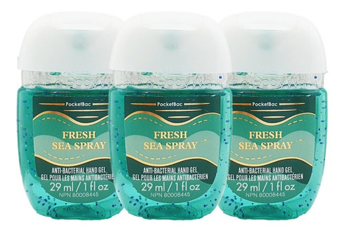 Gel Antibacterial Bath & Body Works Fresh Sea Spray Kit 3pz