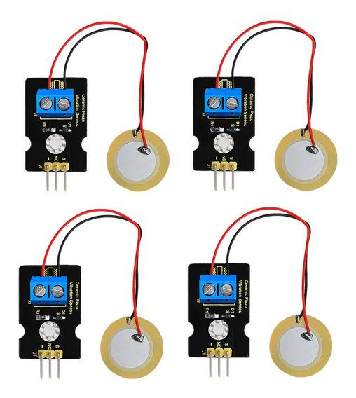 4x Piezoeletricidade Analógica Piezoelétrico Sensor De Vibra