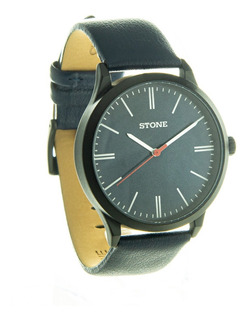 Reloj Pulsera Stone Hombre St1064 Cuero Agente Of Liniers