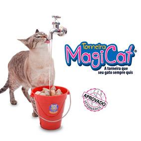 Bebedouro Fonte Para Gato Magicat Vermelho 110v - Catmypet