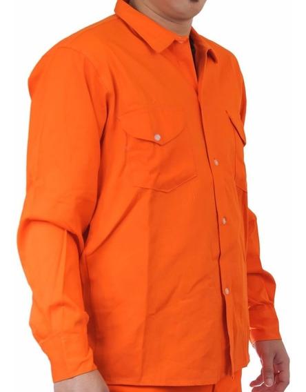 Camisa Naranja Gabardina Somos Fabricantes Precio Por 100 U