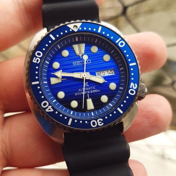 Relógio Seiko Turtle Srpc091 Save The Ocean - Completo