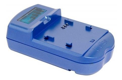 Carregador De Baterias Nikon C/ Visor Lcd Azul - Vivsc3100n