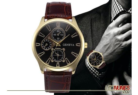 Relógio Elegante, Luxo, Casual + Estojo! Promoção! Barato!