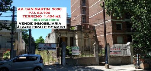 Terreno 1.434 M2*con Casa. San Martín 3606