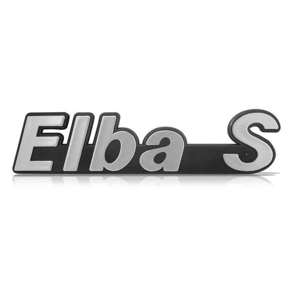 Emblema Alto Relevo Escrito Adesivo Elba S