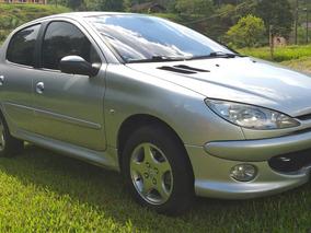 Peugeot 206 Feline Automático 1.6 Prata, Ano 2008