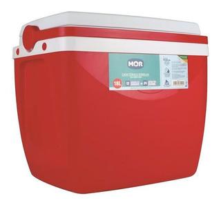 Caixa Térmica 18 Litros Mor Isolamento Térmico Vermelho