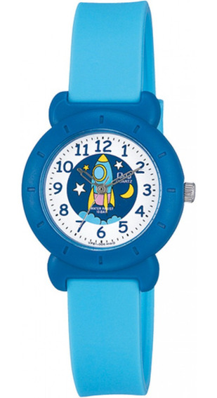 Relógio Infantil Masculino Azul Fundo Foguete Prova D