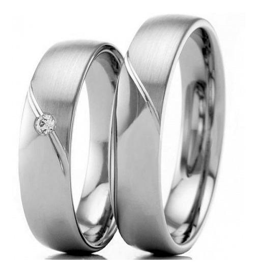 Alianças De Namoro Em Prata 950. 5,5mm