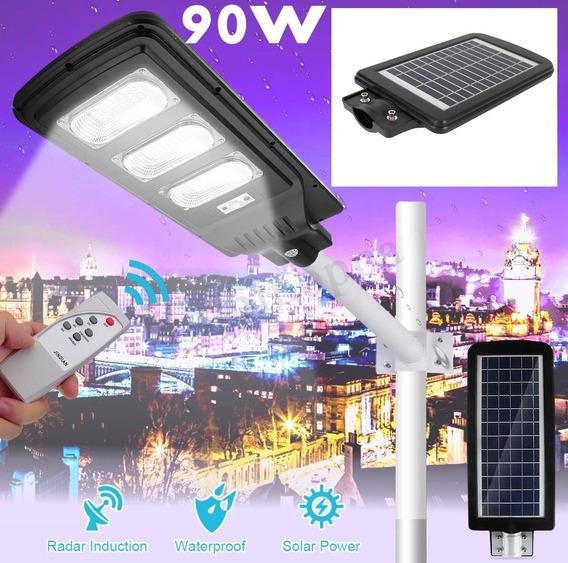 Refletor Luminária Pública Poste Solar Led 90w C Sensor
