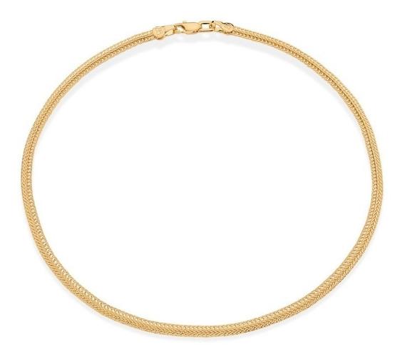 Colar Choker 38 Cm F. Ouro 18k Fio Salamandra Romanel 531779 Luxuoso Lindo Coleção Ana Hickmann Garantia Nota Fiscal